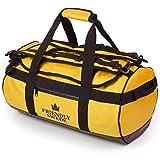 The Friendly Swede Reisetasche Duffle Bag - Duffel Bag Rucksack 30L/60L/90L - Sporttasche Travel Bag - Rucksackfunktion - SANDHAMN (Gelb 30L)