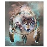HEWADY DIY Diamant Art der 5D Diamant Stickerei Diamant Painting wolf