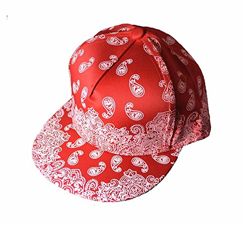 KGM Cool Imprimé New Bandana Snap Back Cap Rouge