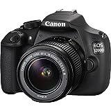 Canon EOS 1200D Fotocamera Reflex Digitale 18 Megapixel con Obiettivo EF-S 18-55mm DC III, Nero