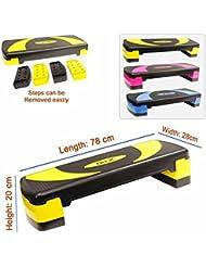 Xn8réglable Stepper Step Bloc cardiovasculaire Fitness aérobic exercice Gym Yoga
