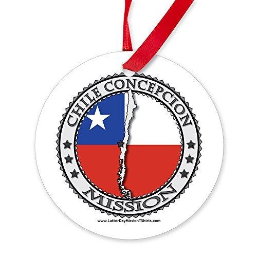 qidushop Chile Concepcion LDS Mission-Flagge, Karte 1 ORN, 2018 Keramik, Weihnachtsdekoration Hochzeit