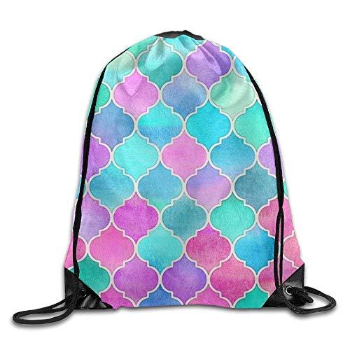 ewtretr Turnbeutel, Drawstring Backpack Kids Adults Waterproof Bag for Gym Traveling