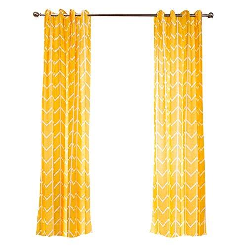 Bb.er tende di cotone e lino giallo stile rustico tende soggiorno camera da letto in cotone e lino, gancio, w140 × h270cm