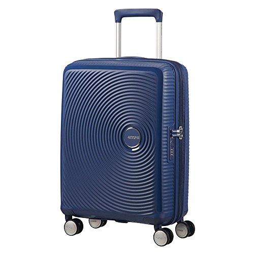 American Tourister - Soundbox Spinner Extensible, 55cm, 35,5/41 L - 2,6 KG, Bleu (Midnight Navy)