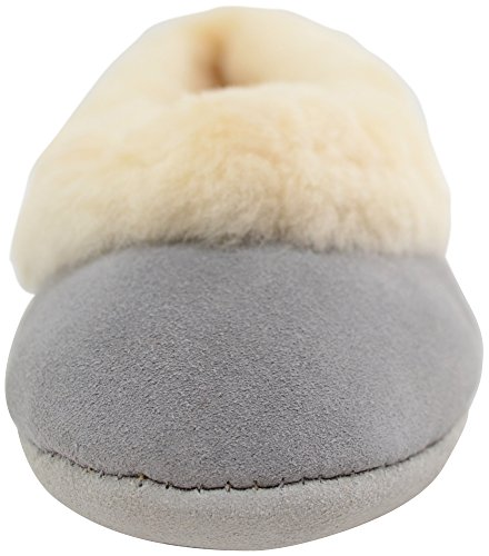 SNUGRUGS Elena, Sheepskin Ballerina Slipper, Chaussons femme Gris clair