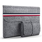 HOMIEE 13-13,3 Zoll Laptoptasche mit extra Aufbewahrungsbox, Filz Sleeve Hülle Laptop Ultrabook Notebook Tasche, Netbook, Tablet Hülle Ultrabook, stoßfest