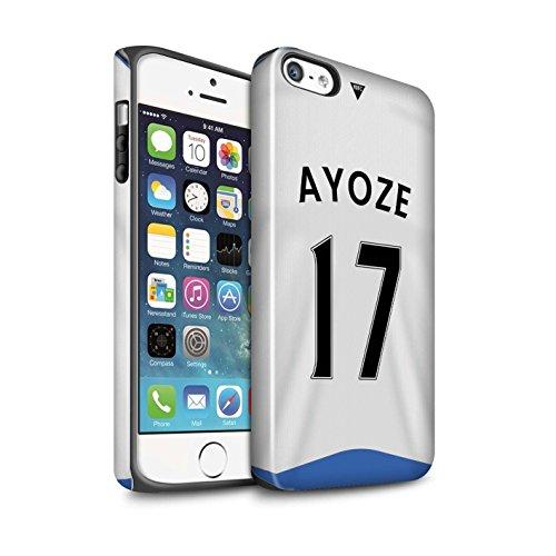 Offiziell Newcastle United FC Hülle / Glanz Harten Stoßfest Case für Apple iPhone SE / Pack 29pcs Muster / NUFC Trikot Home 15/16 Kollektion Ayoze