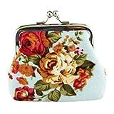OSYARD Frauen Mädchen Retro Vintage Flower Kleine Brieftasche Hasp Münzbörsen Clutch Bag...