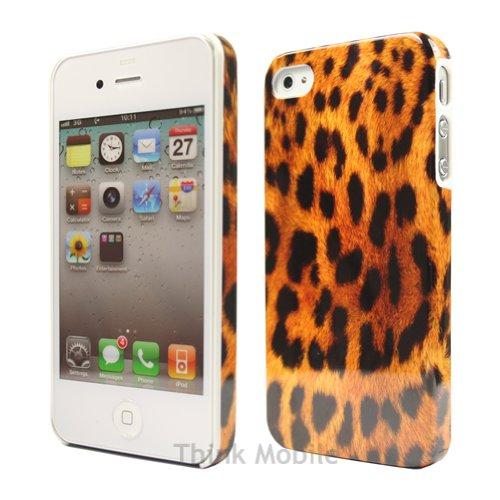Apple iPhone 6 TPU Gel Case - Blau Apple iPhone 6 Tasche Flip Case Leder Cover Schutz Hülle Etui Schale - thinkmobile Leopard