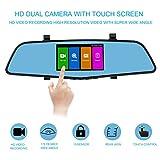 Sendow Mirror Dash fotocamera 11,4 cm IPS touch screen Full HD risoluzione 6 G vetro doppio obiettivo con modalità di comando cruscotto del veicolo specchietto retrovisore backup camera Motion detecti