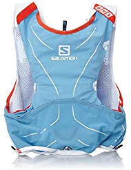 Salomon S-Lab Advanced Skin Backpack - Mochila de Hidratación para Running,  Set de 5, color Azul Line/Blanco, talla X-Large