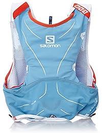 Salomon S-Lab Advanced Skin Backpack - Mochila de Hidratación para Running,  Set de 5, color Azul Line/Blanco, talla Medium/Large
