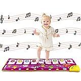 Klaviermatte, Musik Teppich Touch Play Tastaturmatte für Baby Kleinkind lustige Spieldecke Musikinstrument Spielzeug Matte großes Baby Spielzeug Geschenk für Geburtstag Weihnachten (Lila1)