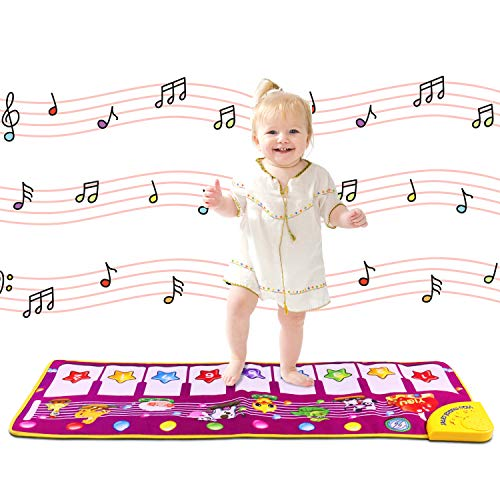 Shayson Piano Mat, Moquette di Musica di Tocco Mat Gioca Tastiera per Bambino del Bambino Divertente Giocare Coperta Strumento Musicale Giocattolo Mat (Purple1)
