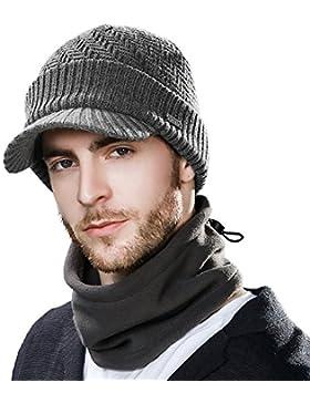 2eab2a9fcd Cappello in maglia di lana Newsboy Siggi, cappello invernale con visiera da  uomo, Beanie