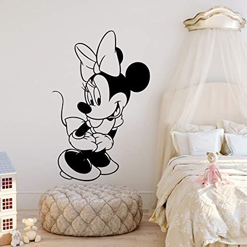 YuanMinglu Niedliche schüchterne Cartoon Maus Vinyl Wand Pop Cartoon Charakter Wandbild 40.5 cm x 63 cm
