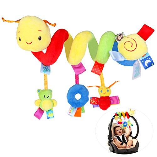 NUOLUX Bambino bambino culla culla carrozzina impiccagione sonagli spirale passeggino seggiolino auto giocattolo con campanella
