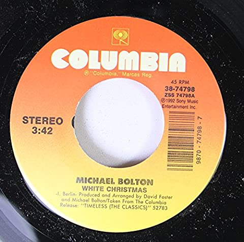 Michael Bolton 45 RPM White Christmas / Reach Out I