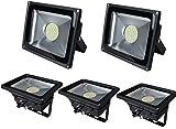Leetop 5X 50W LED Fluter Strahler Flutlicht Warmweiß Scheinwerfer IP65 Außen SMD Baustrahler Beleuchtung Lamp