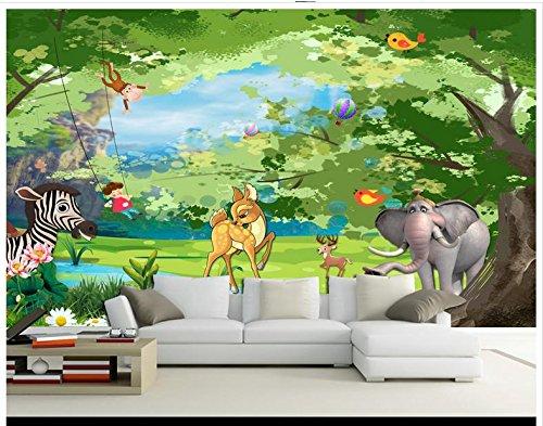 Chlwx Hohe Qualität Hot Sale Neue Benutzerdefinierte 3D Wallpaper Murals Traum Wald Kinder Zimmer Kinder Haus Wandbilder Wall Home Decor 200Cmx150Cm (Traum-kunst-druck)