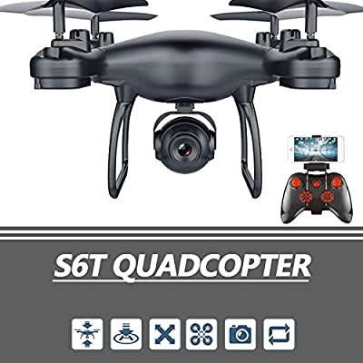 WSWRJY Drones,Drone Camera,High Performance Aircraft Wifi Fpv 480P/720P Hd Camera Rc Selfie Hover Altitude Hold Control Real-Time Quadcopter Durable