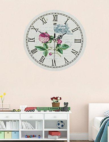 LRZZ Wandmontierte dekorative Uhr, Wanduhr für Zuhause, Stil kreativ Stilvoll die Renaissance...