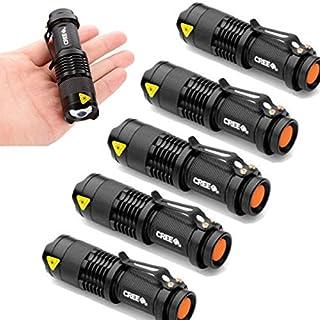 AMISON 6x Mini LED CREE Q5Taschenlampe Taschenlampe 7W 1200LM verstellbar konzentrieren Zoom Licht Lampe