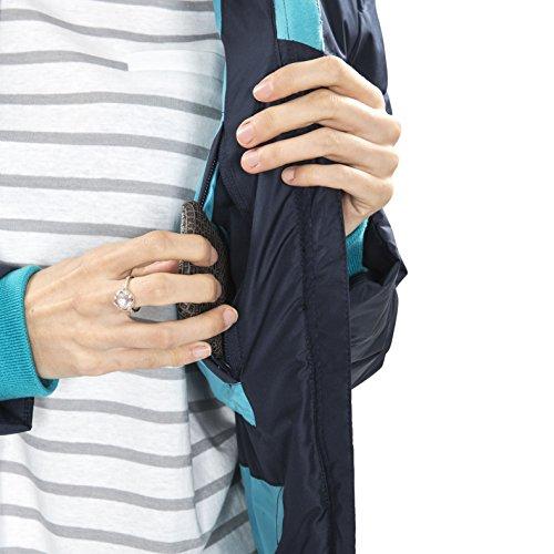 Trespass Homely, Navy, XXS, Wasserdichte Jacke mit abnehmbarer Kapuze für Damen, XX-Small / 2XS / 2X-Small, Blau - 6