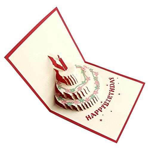 Kofun Vatertag Geschenke, Grußkarte mit Umschlag, Gruß 3D Pop Up Karten Geburtstagskuchen Valentinstag benutzerdefinierte Weihnachts Postkarte (Geschenk-karte Benutzerdefinierte)