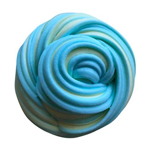 Schlamm Spielzeug, Cooljun Fluffy Floam Slime Duft Stressabbau Kein Borax Kinder Spielzeug Schlamm...