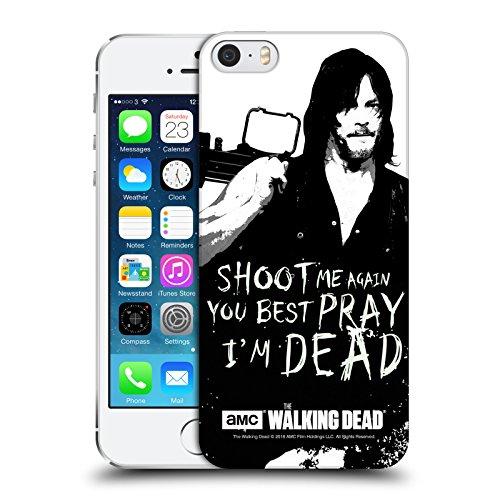 Ufficiale AMC The Walking Dead Rick Questions Citazioni Cover Retro Rigida per Apple iPhone 6 / 6s Daryl Shoot