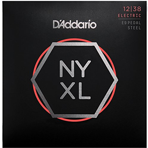 D 'Addario nyxl1238ps Custom Light 12–38 Nickel Wunde Pedal-Steel-Gitarre Saiten