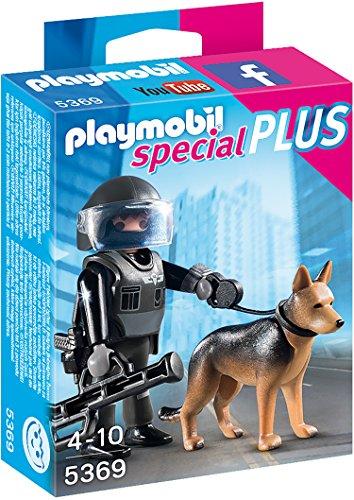 Preisvergleich Produktbild PLAYMOBIL 5369 - SEK-Polizist mit Hund