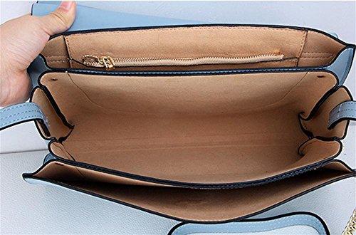 Nouveau Portefeulilles en cuir pour sacs à bandoulière carrés diagonaux haze blue