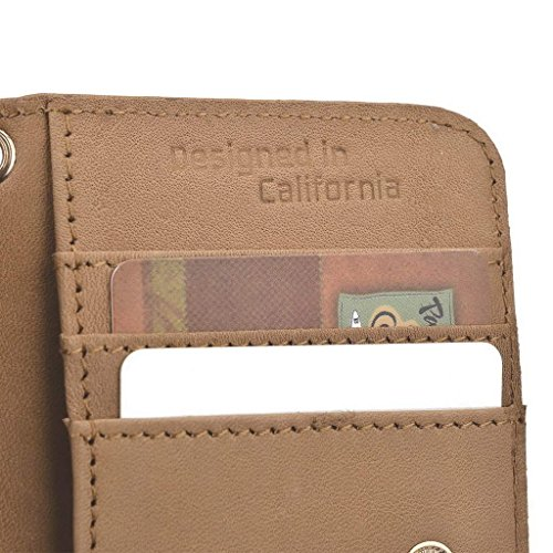Kroo Pochette en cuir véritable pour téléphone portable pour Lava Iris Pro 30/450couleur noir - noir Marron - marron