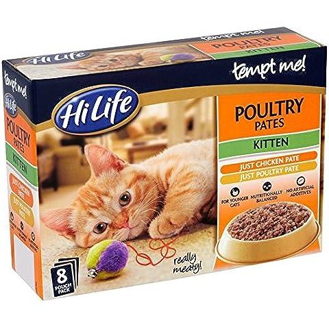 Hilife Tiénteme! Las aves de corral Pate gatito Multipack de 8 x 85 g