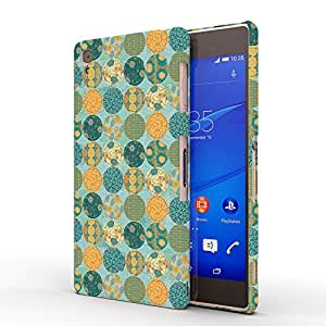 Koveru Designer Printed Protective Snap-On Durable Plastic Back Shell Case Cover for SONY XPERIA Z3 - Teal Pattern