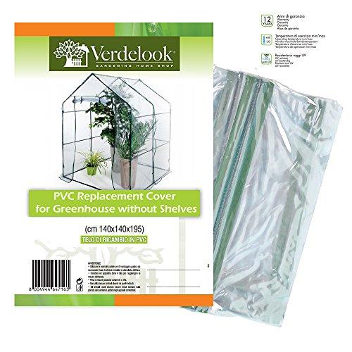 VERDELOOK Telo di ricambio in PVC trasparente per serra a casetta 647/12