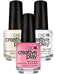 CND Creative Play Bubba Glam Nr. 403 13,5 ml mit Creative Play Base Coat 13,5 ml und Top Coat 13,5 ml, 1er Pack (1 x 0.041 l)