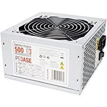PC Case Gear EP-500 - Fuente de alimentación (500 W, 220 V, 50 - 60 Hz, 12 cm, superior, 20+4 pin ATX)