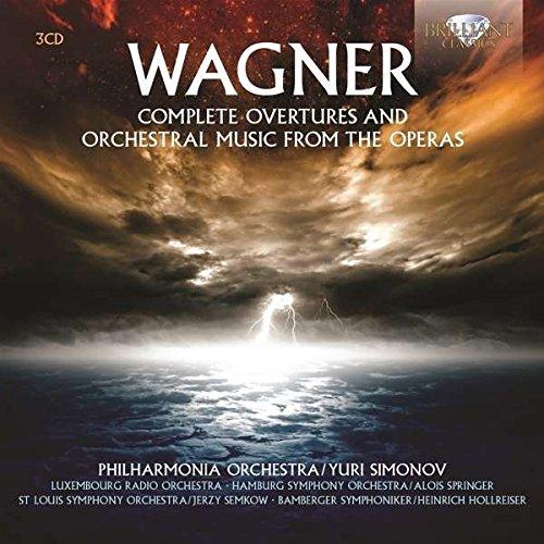 Wagner : Intégrale des ouvertures - Musique orchestrale des opéras. Simonov.