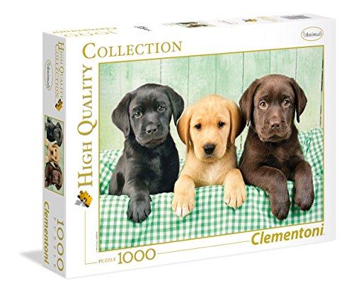 Clementoni - Puzzle 1000 Piezas los Tres labradores (39279)