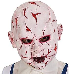 Juguetes Carnaval 1 mil veintiún Máscara Horror blanco/rojo de látex