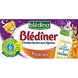 Blédina blédîner lait et potiron sans gluten dès 4/6 mois 2 x 25cl - ( Prix Unitaire ) - Envoi Rapide Et Soignée