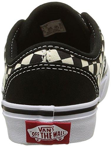 Vans Atwood, Baskets Basses Garçon Noir (Checkers/Black)