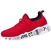 Logobeing Zapatillas de Running para Hombre - Zapatos de Gimnasia de Running de Punta Redonda y Ventilación Correr Zapatillas Deportivas de Malla Cross Tied Anti Skidding
