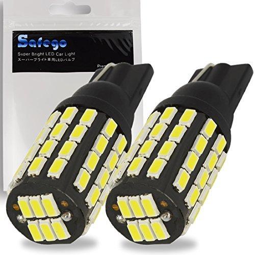 Safego 2x T10 W5W Bianco 194 168 Wedge 54 SMD 3014 Auto Lampadine LED Luci dell'automobile Bulb Diretto Replacment e Reverse RV per Segnale Tronco cruscotto