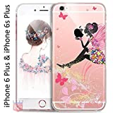 Best I Phone 6 Case For Girls - KC Printed Sitting Girl Sparkle Case Transparent Soft Review