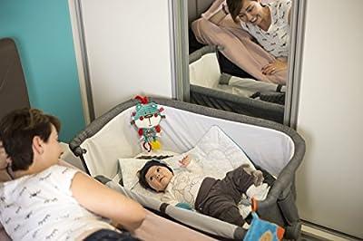Niño Fuerza kklunogry00000Uno Cuna, cuna de viaje/cama auxiliar, Gris